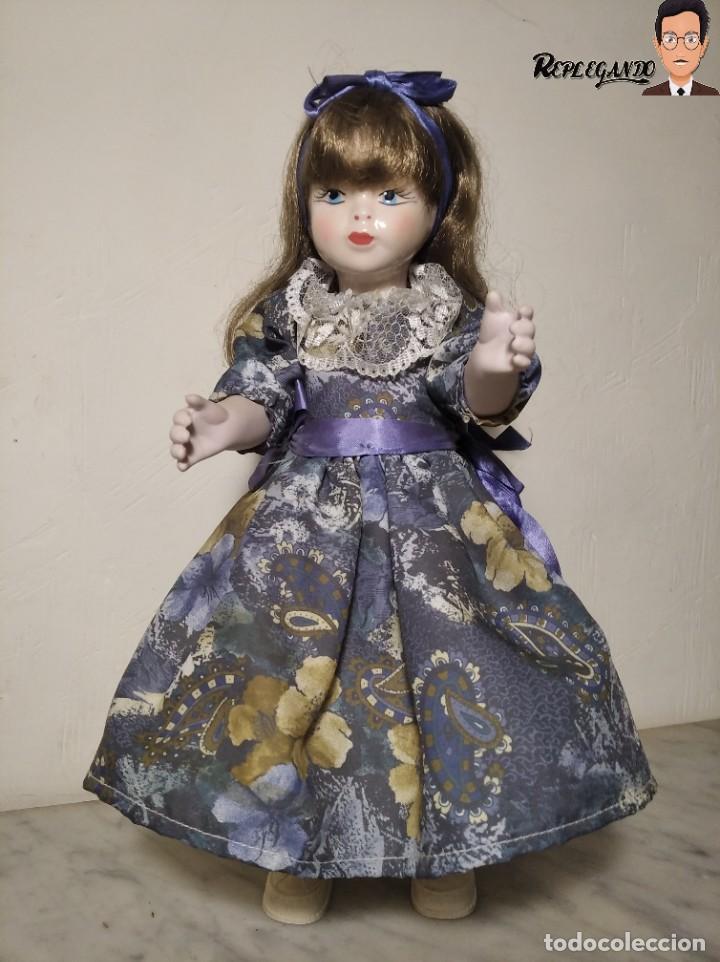 PRECIOSA MUÑECA DE PORCELANA (AÑOS 90) 39 CM ALTO (Juguetes - Muñeca Extranjera Moderna - Porcelana)