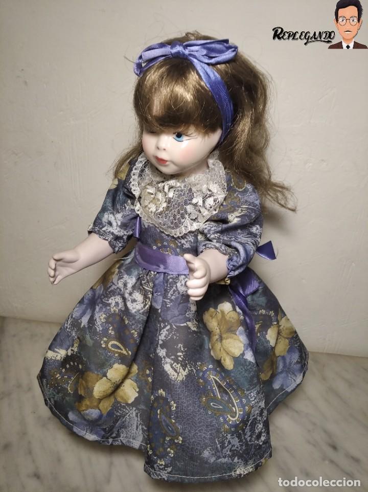Muñecas Porcelana: PRECIOSA MUÑECA DE PORCELANA (AÑOS 90) 39 CM ALTO - Foto 3 - 233167685