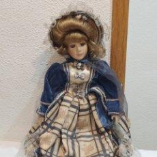 Muñecas Porcelana: BONITA MUÑECA DE PORCELANA ESPAÑOLA VESTIDA DE ÉPOCA. Lote 236993510