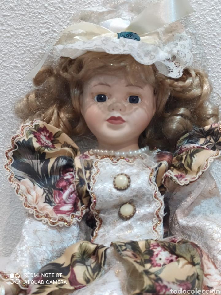 Muñecas Porcelana: Preciosa muñeca de porcelana vestido de época - Foto 2 - 237000725