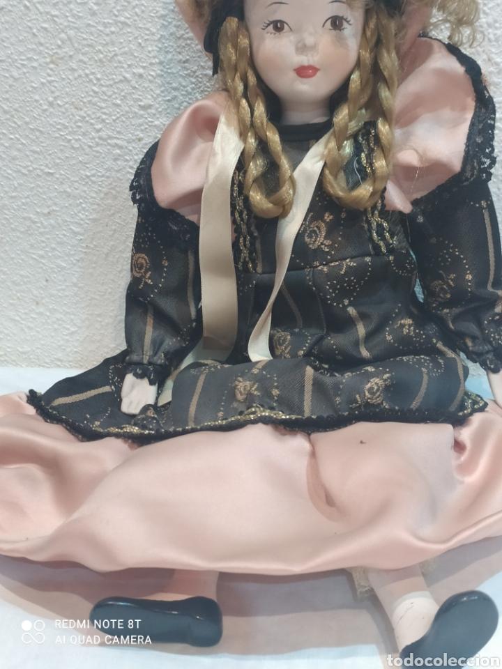 Muñecas Porcelana: Bonita muñeca de porcelana con vestido de época - Foto 3 - 237002085