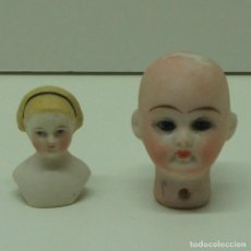Bonecas Porcelana: LOTE DE 2 CABEZAS PEQUEÑAS DE MUÑECA DE PORCELANA .. Lote 240616825