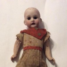 Muñecas Porcelana: ANTIGUA MUÑECA CARA PORCELANA Y CUERPO CARTON Y MADERA - 1904 EDUARDO JUAN MADE IN AUSTRIA. Lote 241458130