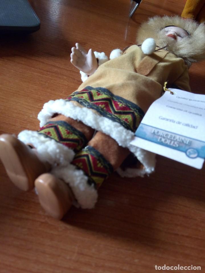 Muñecas Porcelana: MUÑECA ESQUIMAL PORCELANA / MUÑECA INDIA - Foto 5 - 242952745