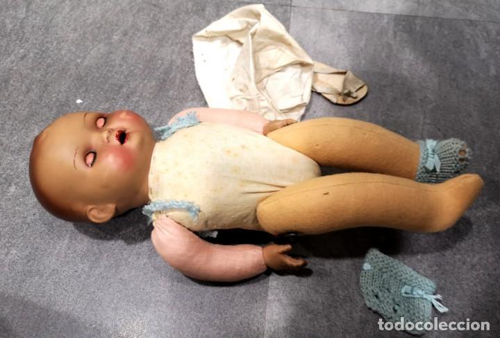Muñecas Porcelana: Muñeco/a principios siglo XX, abre y cierra ojos de cristal y hace sonido al moverse - Foto 8 - 244412885