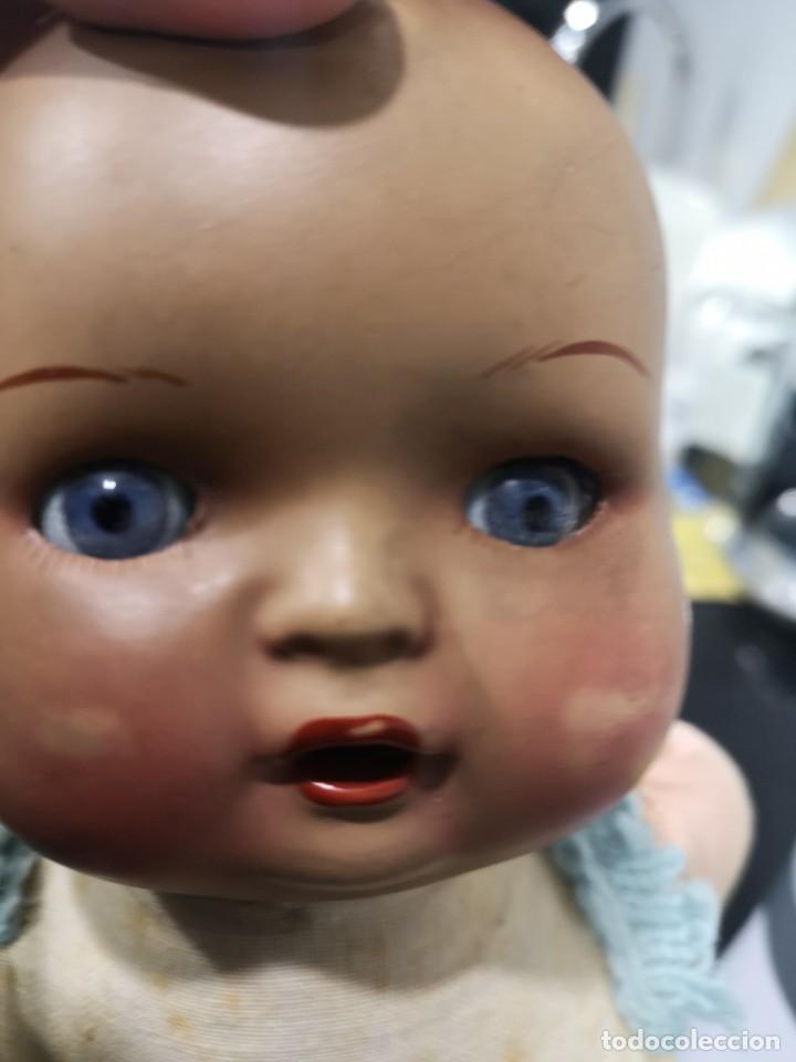 Muñecas Porcelana: Muñeco/a principios siglo XX, abre y cierra ojos de cristal y hace sonido al moverse - Foto 9 - 244412885