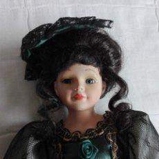 Muñecas Porcelana: MUÑECA ANTIGUA DE PORCELANA 55 CM. Lote 246012510