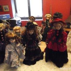 Muñecas Porcelana: COLECCIÓN PRIVADA CON 11 MUÑECAS DE PORCELANA ANTIGUAS DE MAS DE 50 CM Y 33 CM. Lote 248001445
