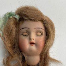 Muñecas Porcelana: CABEZA DE MUÑECA DE PORCELANA, OJOS DURMIENTES. S.XIX.. Lote 252106675