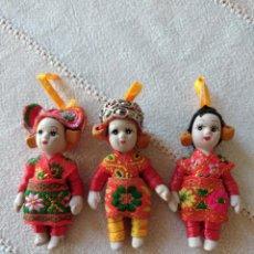 Bonecas Porcelana: LOTE DE 3 MUÑECAS DE PORCELANA CON TRAJE REGIONAL ,MUÑECAS DE PORCELANA ENTERAS, PINTADAS A MANO.. Lote 252727530