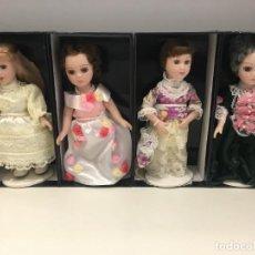 Muñecas Porcelana: LOTE DE 4 MUÑECAS DE PORCELANA DE 18 CM DE ALTO. REFERENCIA 2. Lote 254775820