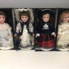 Muñecas Porcelana: LOTE DE 4 MUÑECAS DE PORCELANA DE 18 CM DE ALTO. REFERENCIA 3. Lote 254776045