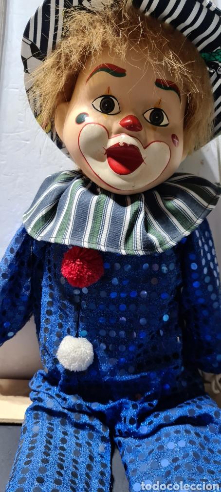 Muñecas Porcelana: Curiosiosa figura grande de un precioso payaso. - Foto 3 - 257401530