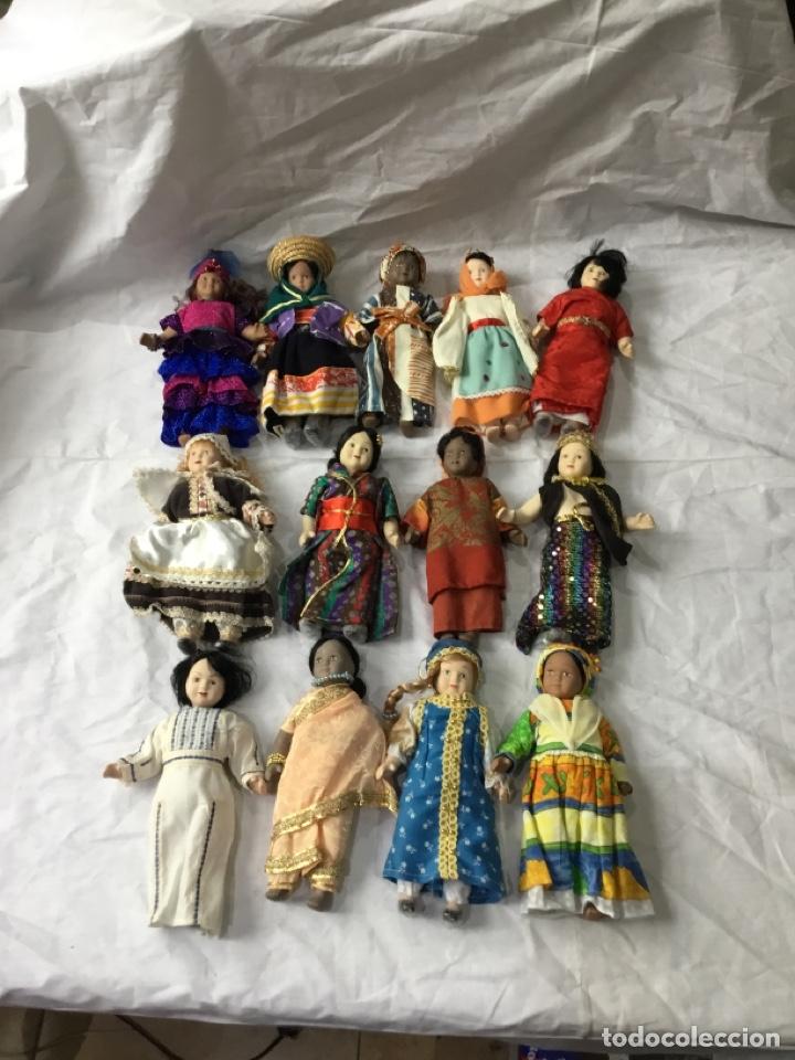 LOTE MUÑECAS DE PORCELANA ANTIGUAS - VER FOTOS (Juguetes - Muñeca Extranjera Moderna - Porcelana)
