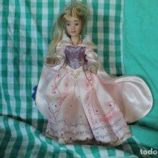 Muñecas Porcelana: MUÑECA PRINCESA DISNEY RAPUNZEL PORCELANA COLECCIÓN. Lote 260342275