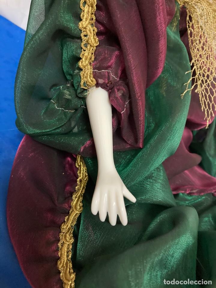 Muñecas Porcelana: Arlequin de porcelana Veneciano, pintado a mano, largo 45 cm , años 50 - Foto 7 - 261123035