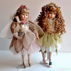 Bambole Porcellana: THE LEONARDO COLLECTION DOS MUÑECAS PORCELANA ADAS - 40.CM ALTO. Lote 267371419