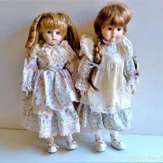 Bambole Porcellana: DOS MUÑECAS PORCELANA - 41 Y 42.CM ALTO. Lote 268137699