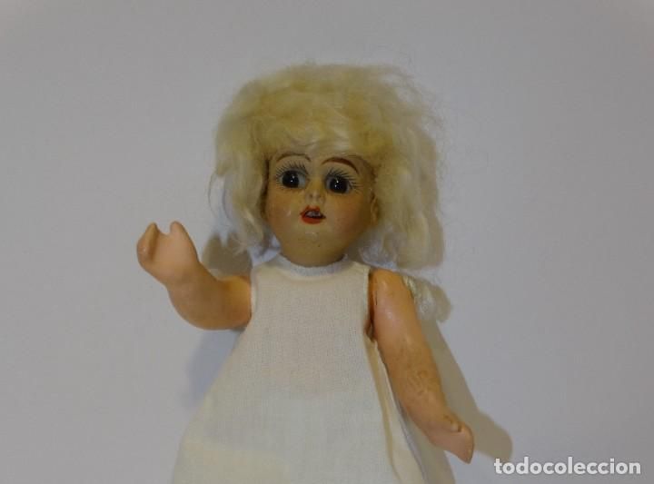 Muñecas Porcelana: MUÑECA ANTIGUA PORCELANA Y CARTÓN PIEDRA OJOS VIDRIADOS PAT Nº 10 MIDE 20 CM - Foto 3 - 268451374
