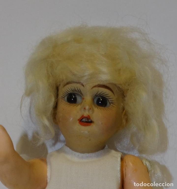 Muñecas Porcelana: MUÑECA ANTIGUA PORCELANA Y CARTÓN PIEDRA OJOS VIDRIADOS PAT Nº 10 MIDE 20 CM - Foto 4 - 268451374