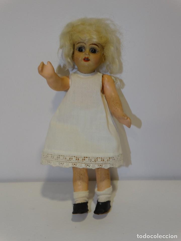 Muñecas Porcelana: MUÑECA ANTIGUA PORCELANA Y CARTÓN PIEDRA OJOS VIDRIADOS PAT Nº 10 MIDE 20 CM - Foto 6 - 268451374