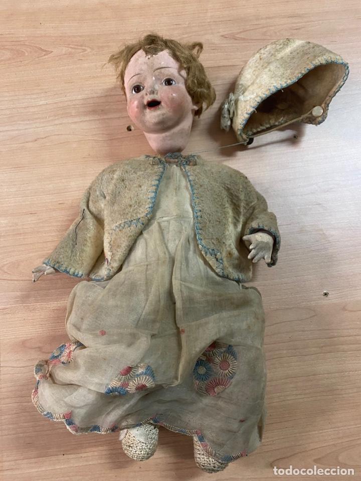ANTIGUA MUÑECA DE PORCELANA CON VESTIDO ORIGINAL (Juguetes - Muñecas Extranjeras Antiguas - Porcelana Otros paises)