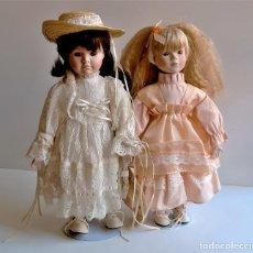Bonecas Porcelana: DOS MUÑECAS PORCELANA - 40 Y 39.CM ALTO. Lote 268768809