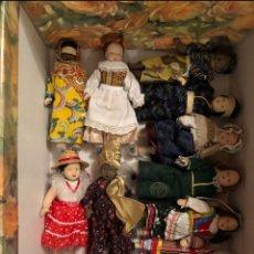 Muñecas Porcelana: COLECCIÓN 80 MUÑECAS DE PORCELANA DE PAISES. Lote 269590478