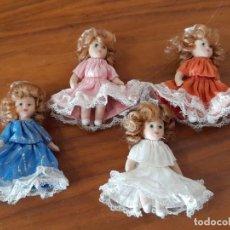 Bonecas Porcelana: LOTE MUÑECAS PEQUEÑAS EN PORCELANA. Lote 272742368