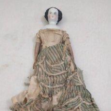 Muñecas Porcelana: MUÑECA PORCELANA. CUERPO MADERA. S.XIX. 23CM. Lote 275069633