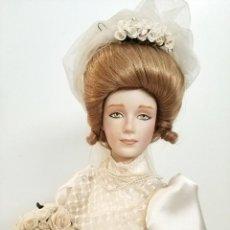 Muñecas Porcelana: PRECIOSA MUÑECA PORCELANA VESTIDO NOVIA VANESSA JUDY BELLE EN CAJA ASHTON DRAKE. Lote 275126518