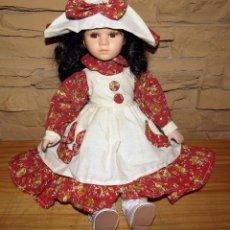 Muñecas Porcelana: ANTIGUA MUÑECA DE PORCELANA - 38CM - NUEVA, SIN USO - PERFECTO ESTADO. Lote 276915058
