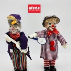 Muñecas Porcelana: LOTE DE 2 MUÑECOS DE PAYASOS DE PORCELANA NUEVOS SIN USAR. IDEAL PARA COLECCIONISMO.. Lote 278170783