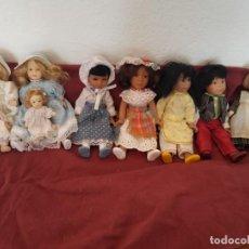 Muñecas Porcelana: LOTE 9 MUÑECAS PORCELANA. Lote 285134378