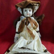 Muñecas Porcelana: ANTIGUA MUÑECA DE POCELANA 43 CMS. Lote 285234218