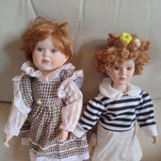 Muñecas Porcelana: PAREJA DE MUÑECAS DE PORCELANA.. Lote 285543188