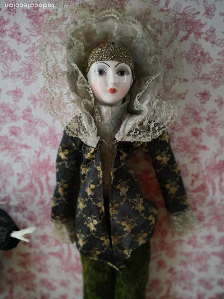 Muñecas Porcelana: Lote 2 muñecas porcelana y ceramica.desconocemos origen y antiguedad-Envío certificado gratuito - Foto 3 - 285554078