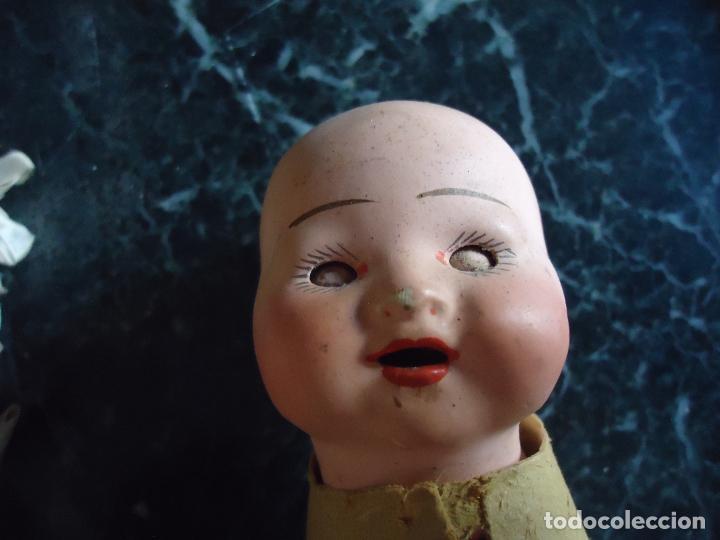 Muñecas Porcelana: Pequeña y simpática cabeza de muñeca/o bebé porcelana ojos durmientes - Foto 2 - 285648343
