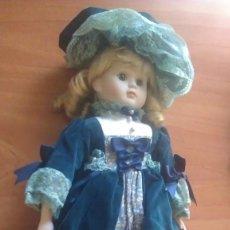 Muñecas Porcelana: MUÑECA CON PORCELANA EN CARA, PIES Y MANOS. Lote 285682358