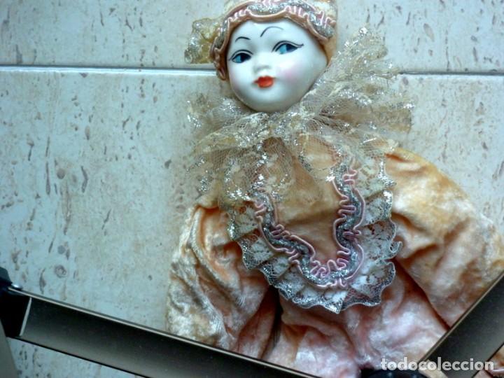 Muñecas Porcelana: Arlequin, porcelana inglesa - Foto 846- de 32cts.alto-peso350 grs-certificado 5,95 - Foto 2 - 285989698