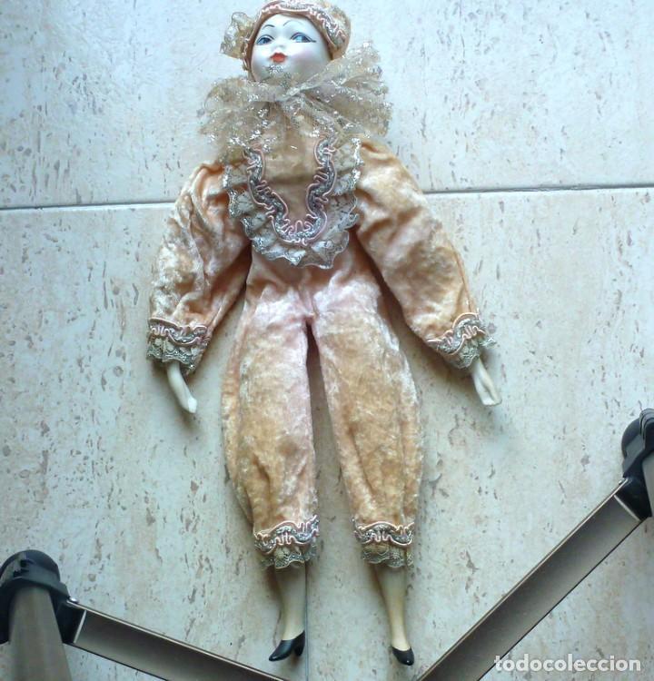 Muñecas Porcelana: Arlequin, porcelana inglesa - Foto 846- de 32cts.alto-peso350 grs-certificado 5,95 - Foto 3 - 285989698