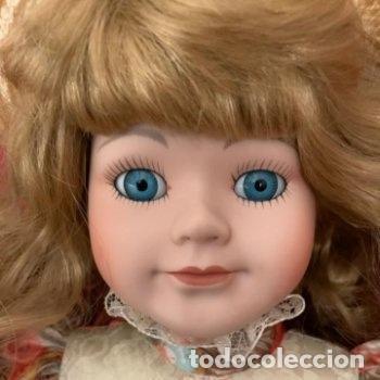 Muñecas Porcelana: Muñeca de porcelana con sombrero de paja - Foto 2 - 287064933