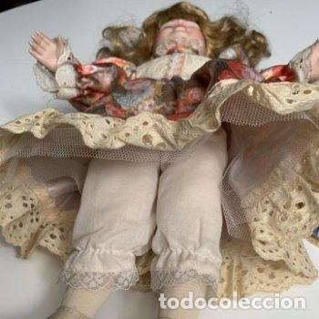 Muñecas Porcelana: Muñeca de porcelana con sombrero de paja - Foto 6 - 287064933