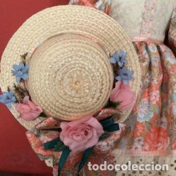 Muñecas Porcelana: Muñeca de porcelana con sombrero de paja - Foto 7 - 287064933