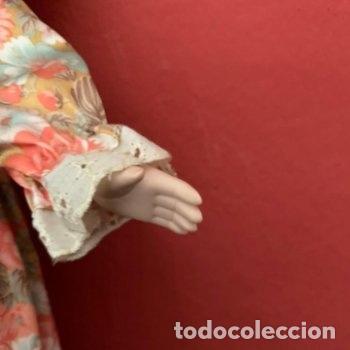 Muñecas Porcelana: Muñeca de porcelana con sombrero de paja - Foto 8 - 287064933