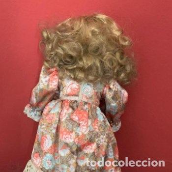 Muñecas Porcelana: Muñeca de porcelana con sombrero de paja - Foto 11 - 287064933