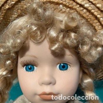 Muñecas Porcelana: Muñeca grande de porcelana indumentaria campestre - Foto 3 - 287066478