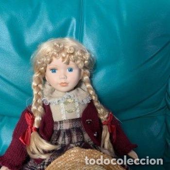 Muñecas Porcelana: Muñeca grande de porcelana indumentaria campestre - Foto 10 - 287066478