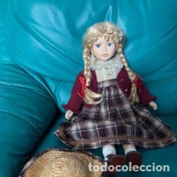 Muñecas Porcelana: Muñeca grande de porcelana indumentaria campestre - Foto 11 - 287066478