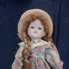 Muñecas Porcelana: MUÑECA PORCELANA ANTIGUA TRENZAS LARGAS. Lote 288074933
